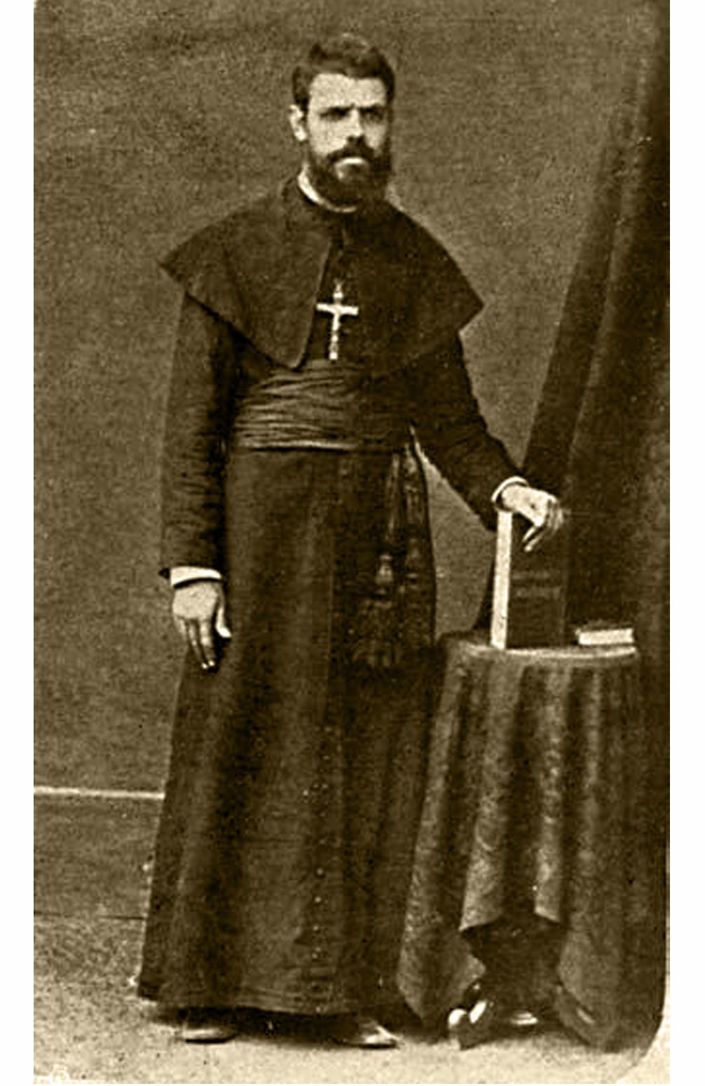 O Padre António Barroso, à partida para as Missões de Angola/Congo, em 1880.